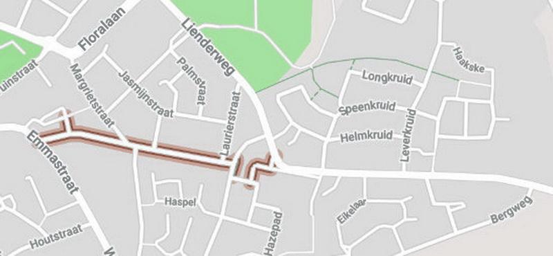 7ba9ca16465 Vroeger was de Hemel heel anders... die liep van de Emmastraat, dat is niet  veranderd, tot bijna achteraan waar je de Bergweg in kan... de helft heeft  de ...