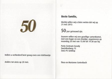 tekst 50 jarig jubileum Wensen Voor 50 Jaar Huwelijk   ARCHIDEV tekst 50 jarig jubileum